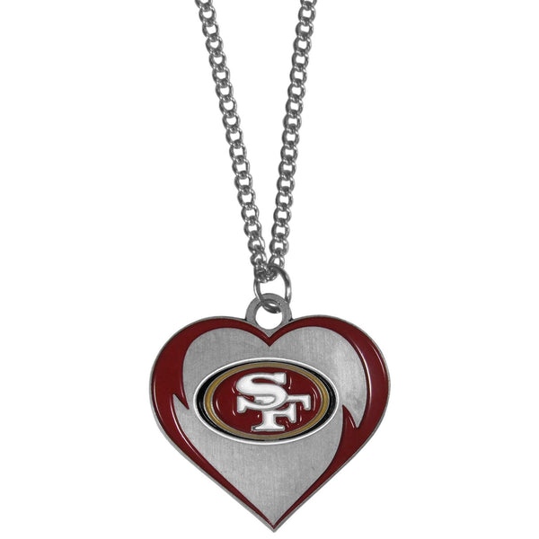 Jewelry & Accessories San Francisco 49ers Heart Necklace JM Sports-7