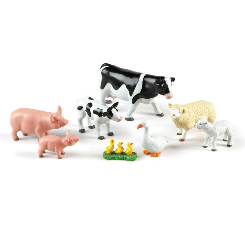 JUMBO FARM ANIMALS MOMMAS & BABIES-Learning Materials-JadeMoghul Inc.