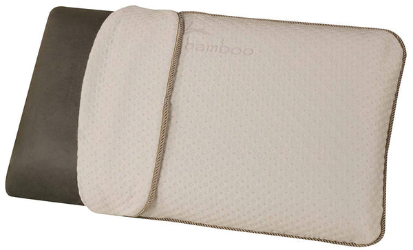 King Size Bamboo Charcoal Infused Memory Foam Pillow with Plush Feel The Urban Port Titanium Series