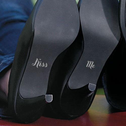 "Kiss Me ""Shoe Talk"" Stick on Decals for Shoes (Pack of 1)-Wedding Ceremony Accessories-JadeMoghul Inc."