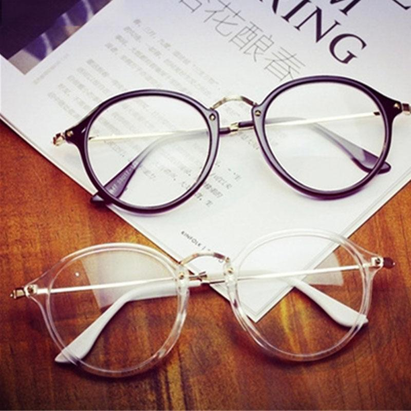 KOTTDO 2017 Women Retro Eyeglasses Frame Women Eye Glasses Vintage Optical Glasses Transparent Frame Oculos Feminino Masculino-Bright Black-JadeMoghul Inc.