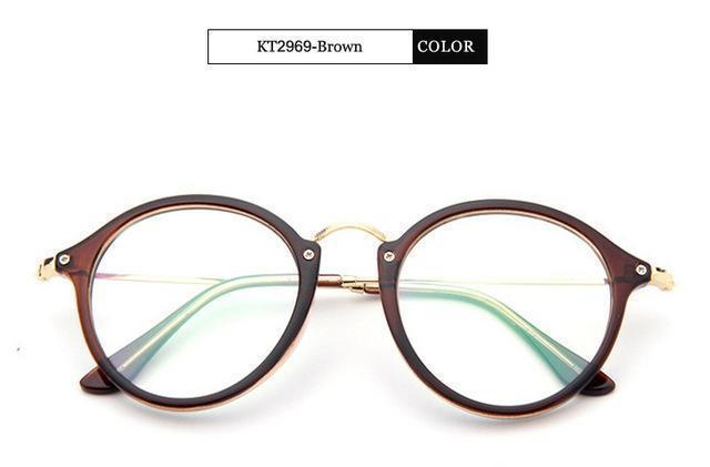 KOTTDO 2017 Women Retro Eyeglasses Frame Women Eye Glasses Vintage Optical Glasses Transparent Frame Oculos Feminino Masculino-Brown-JadeMoghul Inc.