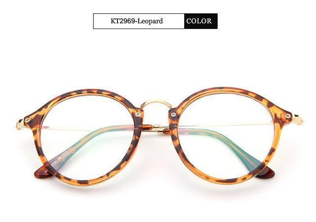 KOTTDO 2017 Women Retro Eyeglasses Frame Women Eye Glasses Vintage Optical Glasses Transparent Frame Oculos Feminino Masculino-Leopard-JadeMoghul Inc.
