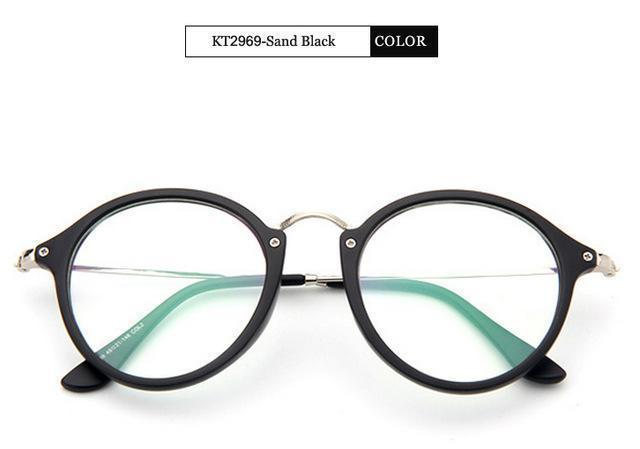 KOTTDO 2017 Women Retro Eyeglasses Frame Women Eye Glasses Vintage Optical Glasses Transparent Frame Oculos Feminino Masculino-Sand Black-JadeMoghul Inc.