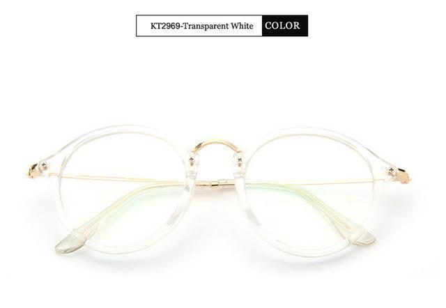 KOTTDO 2017 Women Retro Eyeglasses Frame Women Eye Glasses Vintage Optical Glasses Transparent Frame Oculos Feminino Masculino-Transparent white-JadeMoghul Inc.