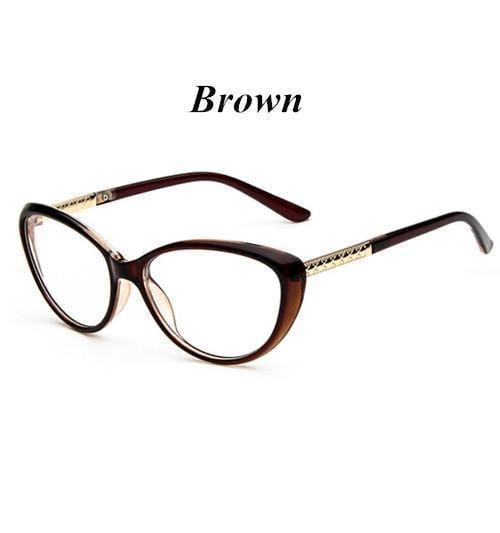 KOTTDO Women Retro Cat Eye Eyeglasses Brand Spectacles Glasses Optical Spectacle Frame Vintage Computer Reading Glasses oculos-brown-JadeMoghul Inc.
