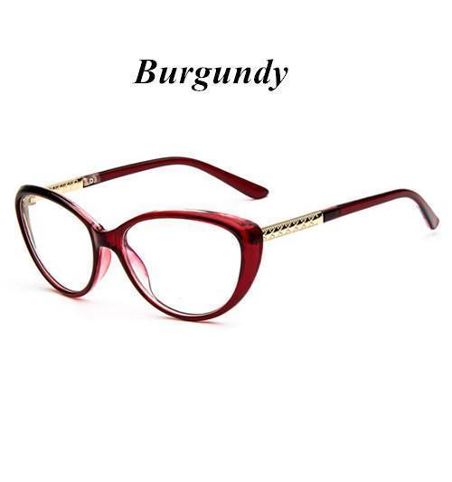 KOTTDO Women Retro Cat Eye Eyeglasses Brand Spectacles Glasses Optical Spectacle Frame Vintage Computer Reading Glasses oculos-Burgundy-JadeMoghul Inc.