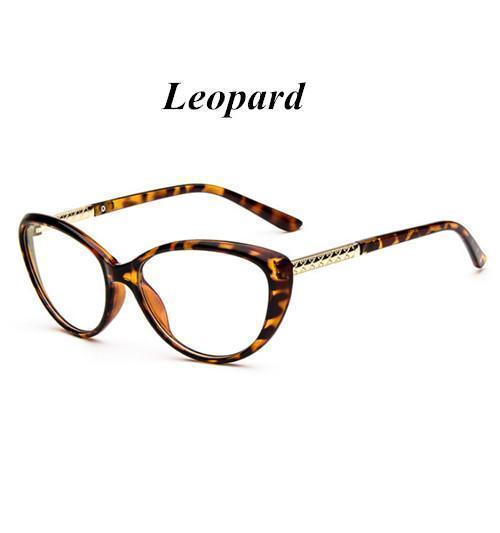KOTTDO Women Retro Cat Eye Eyeglasses Brand Spectacles Glasses Optical Spectacle Frame Vintage Computer Reading Glasses oculos-leopard-JadeMoghul Inc.