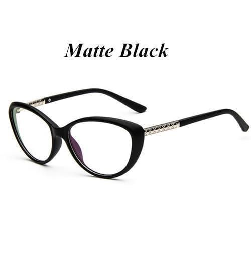 KOTTDO Women Retro Cat Eye Eyeglasses Brand Spectacles Glasses Optical Spectacle Frame Vintage Computer Reading Glasses oculos-matte black-JadeMoghul Inc.