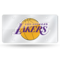 L.A. LAKERS LASER TAG (SILVER)-LZS Laser Cut Tag (Silver Packaged)-JadeMoghul Inc.