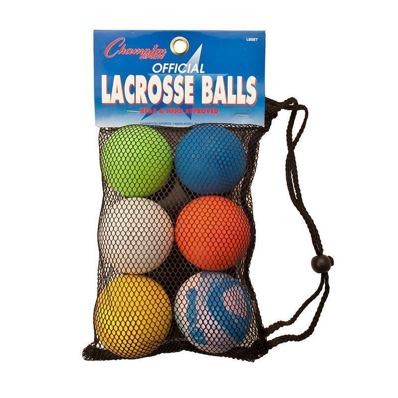 LACROSSE BALL SET OF 6 OFFICIAL SZ-Toys & Games-JadeMoghul Inc.