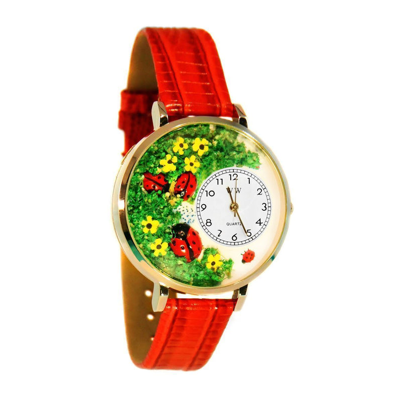 Ladybugs Watch in Gold (Large)-Watch-JadeMoghul Inc.