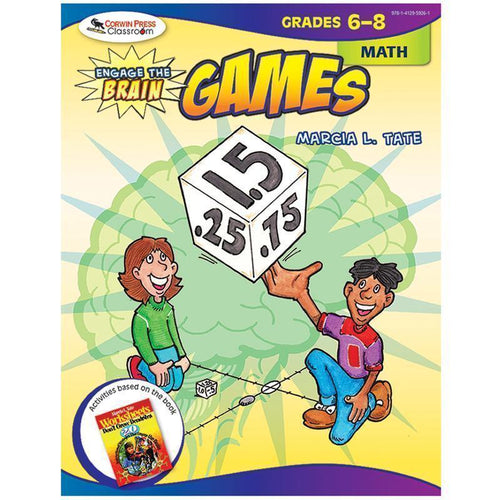 Learning Materials ENGAGE THE BRAIN GAMES MATH GR 6-8 Default Title JadeMoghul