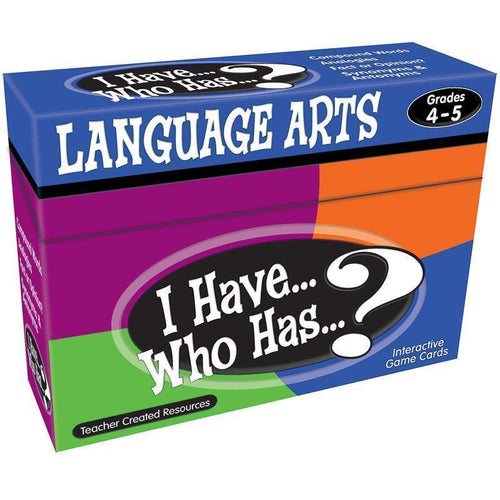 Learning Materials I HAVE WHO HAS LANGUAGE ARTS GR 4-5 Default Title JadeMoghul