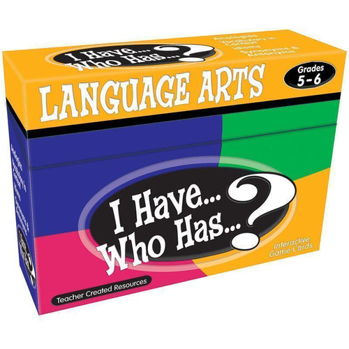 Learning Materials I HAVE WHO HAS LANGUAGE ARTS GR 5-6 Default Title JadeMoghul