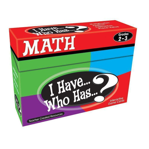Learning Materials I HAVE WHO HAS MATH GAMES GR 2-3 Default Title JadeMoghul