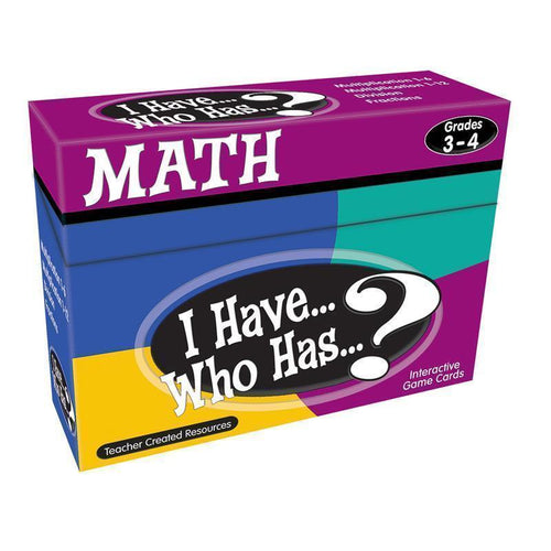 Learning Materials I HAVE WHO HAS MATH GAMES GR 3-4 Default Title JadeMoghul