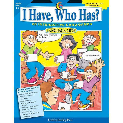Learning Materials LANGUAGE GR 3-4 I HAVE WHO HAS Default Title JadeMoghul