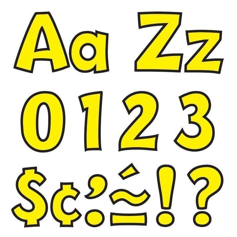 Learning Materials Ready Letter 4 Inch Playful Yellow TREND ENTERPRISES INC.