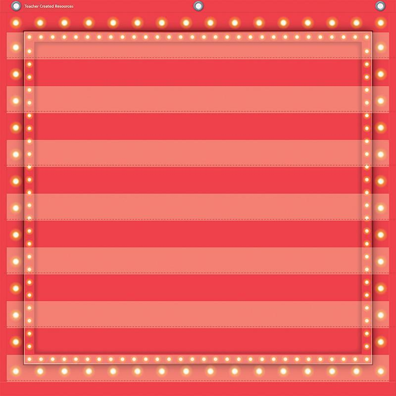 Learning Materials Red Marquee 7 Pocket Chart 28 X28 TEACHER CREATED RESOURCES
