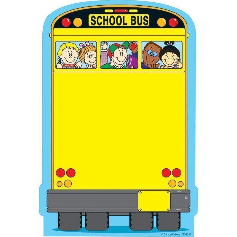 Learning Materials School Bus Note Pad 50 Sheets CARSON DELLOSA