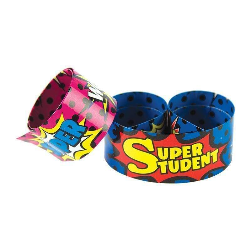 Learning Materials Slap Bracelets Superhero Super TEACHER CREATED RESOURCES
