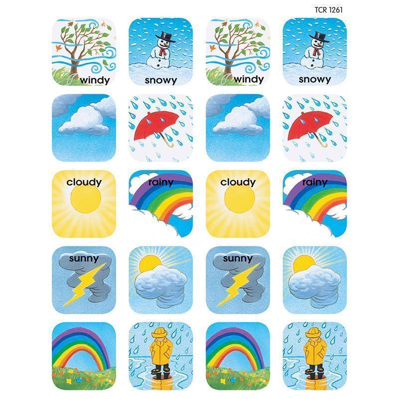 Learning Materials STICKERS WEATHER TEACHER CREATED RESOURCES