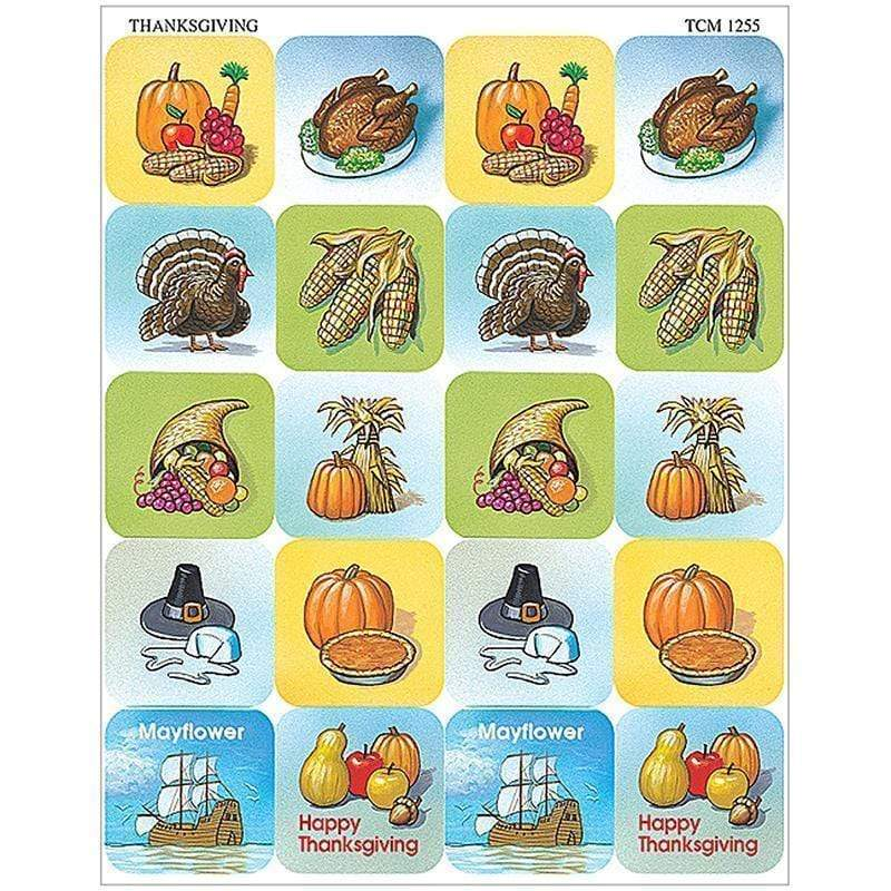 Learning Materials Thanksgiving Stickers TEACHER CREATED RESOURCES