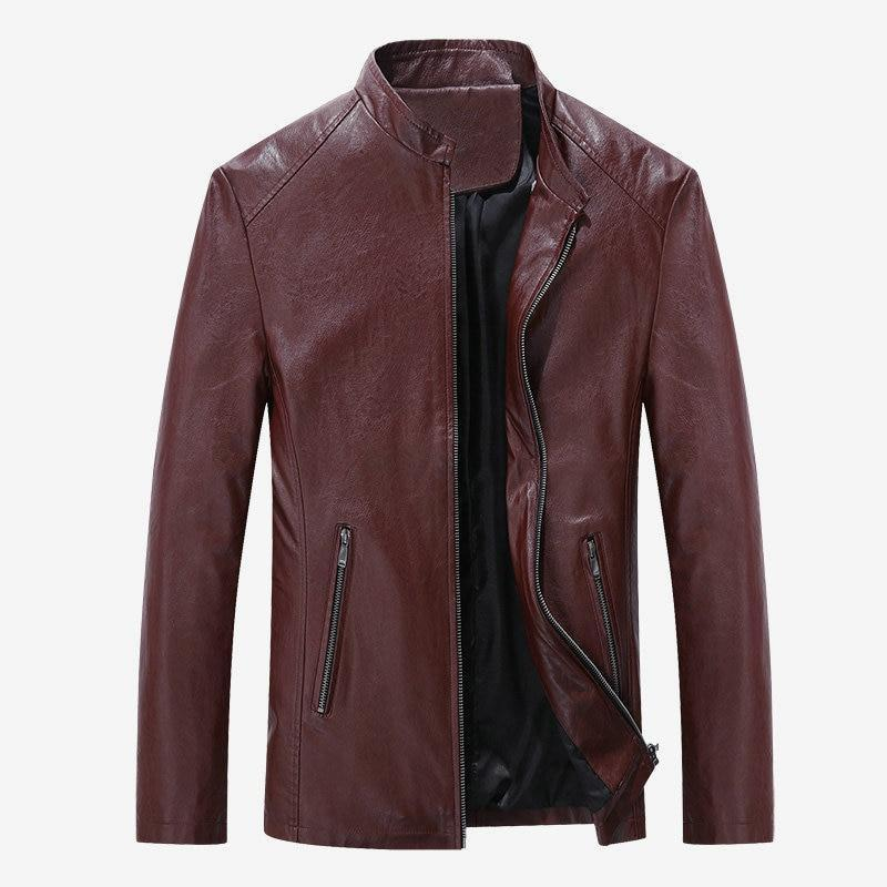Leather Jacket For Men - Casual Slim Men Jacket-Black-S-JadeMoghul Inc.