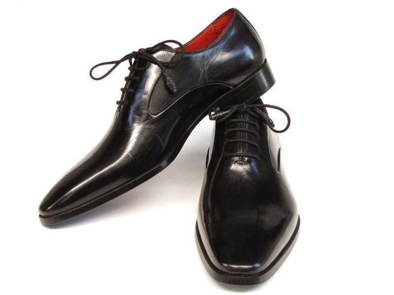 Leather Shoes Paul Parkman (FREE Shipping) Men's Black Oxfords Leather Upper and Leather Sole PP