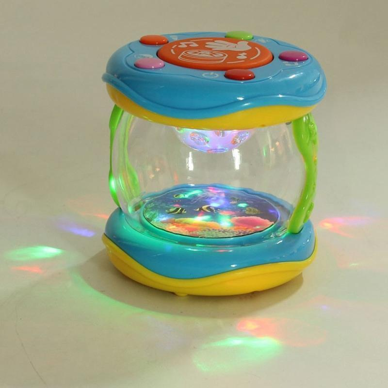 LED Music Early Childhood Educational Learning Developmental Baby Rattles Funny Children Infant Toys Mini Magic Hand Drum Beat--JadeMoghul Inc.