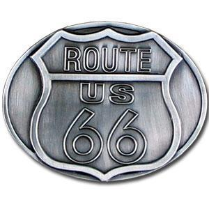 Licensed Sports Originals-Novelty - Route 66 Antiqued Belt Buckle-Jewelry & Accessories,Buckles,Antiqued Buckles-JadeMoghul Inc.