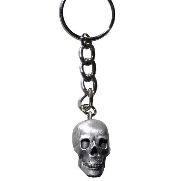 Licensed Sports Originals-Novelty-Skulls - 3D Skull Key Ring-Key Chains,Scultped Key Chains,Antiqued Key Chain-JadeMoghul Inc.
