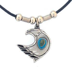 Licensed Sports Originals-Western-Southwestern - Eagle & Stone Adjustable Cord Necklace-Jewelry & Accessories,Necklaces,Adjustable Cord Necklaces-JadeMoghul Inc.