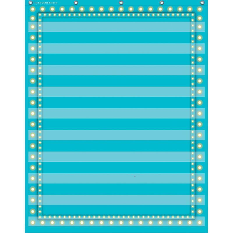 LIGHT BLUE MARQUEE 10 POCKET 34X44-Learning Materials-JadeMoghul Inc.