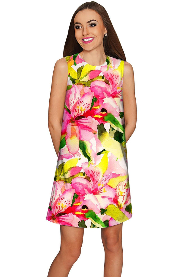 Little Havana Flash Adele Vacation Chic Shift Dress - Women-Havana Flash-XS-Green/Pink/Yellow-JadeMoghul Inc.