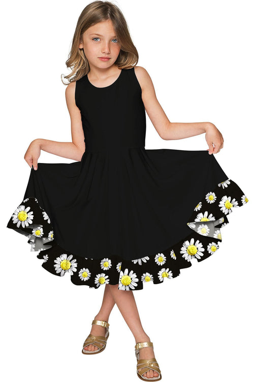 Little Oopsy Daisy Vizcaya Cute Black Party Dress - Girls-Oopsy Daisy-JadeMoghul Inc.