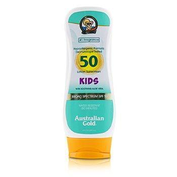 Lotion Sunscreen Broad Spectrum SPF 50 with Soothing Aloe Vera - For Kids - 237ml/8oz-All Skincare-JadeMoghul Inc.