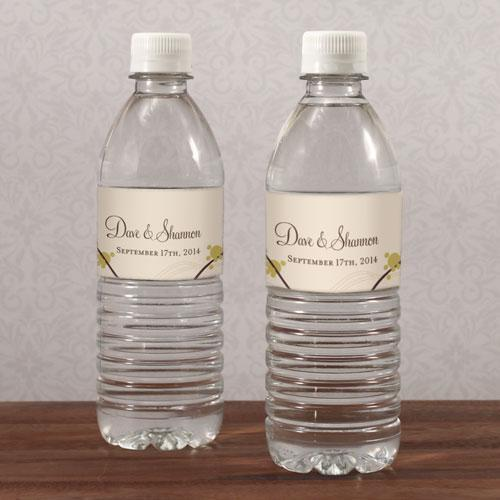 Love Bird Water Bottle Label Spring (Pack of 1)-Wedding Ceremony Stationery-Watermelon-JadeMoghul Inc.