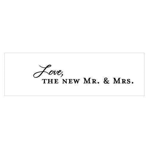 """Love, the New Mr. & Mrs."" Confetti Cards Indigo Blue (Pack of 1)-Wedding Favor Stationery-Chocolate Brown-JadeMoghul Inc."