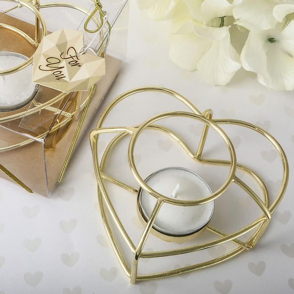 Love themed Gold wire tealight holder-Wedding Reception Decorations-JadeMoghul Inc.