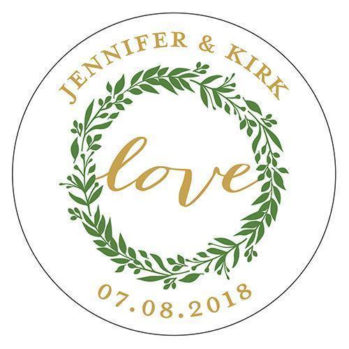 Love Wreath Small Sticker (Pack of 1)-Wedding Favor Stationery-JadeMoghul Inc.
