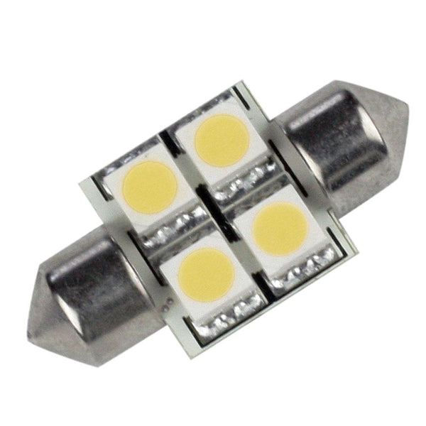 Lunasea Single-Sided 4 LED Festoon - 10-30VDC-0.7W-60 Lumens - Warm White [LLB-202W-21-00]-Bulbs-JadeMoghul Inc.