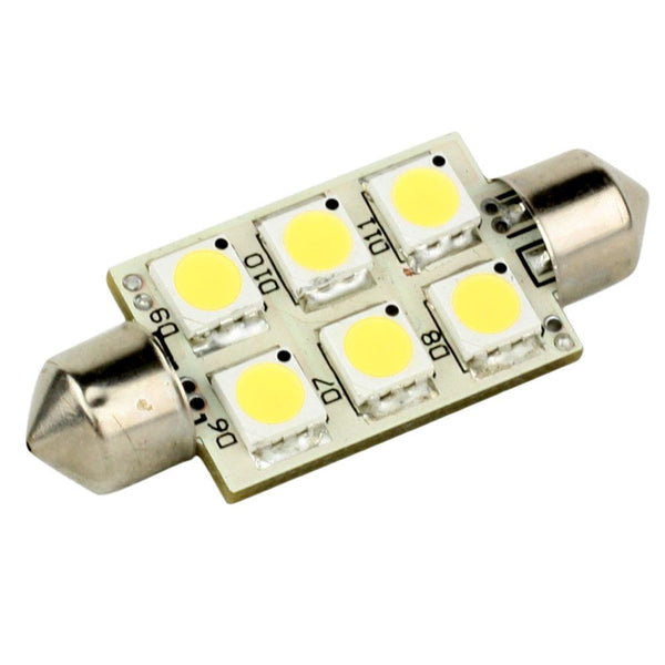 Lunasea Single-Sided 6 LED Festoon - 10-30VDC-1.5W-97 Lumens - Warm White [LLB-186W-21-00]-Bulbs-JadeMoghul Inc.