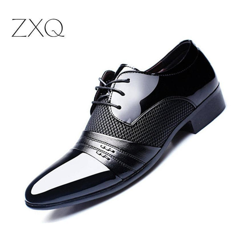 Luxury Men Leather Shoes / Classic Oxfords-Black-6-JadeMoghul Inc.