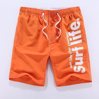 M-5XL Men Shorts Beach Board Shorts Men Quick Drying 2017 Summer Clothing Boardshorts Sandy Beach Shorts-9633Orange-4XL-JadeMoghul Inc.