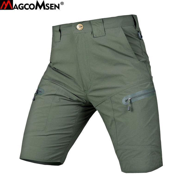 MAGCOMSEN Shorts Men Summer Casual Tactical SWAT Short Breathable Army Military Quick Dry Urban Combat Cargo Shorts AG-PLY-16-Black-S-JadeMoghul Inc.