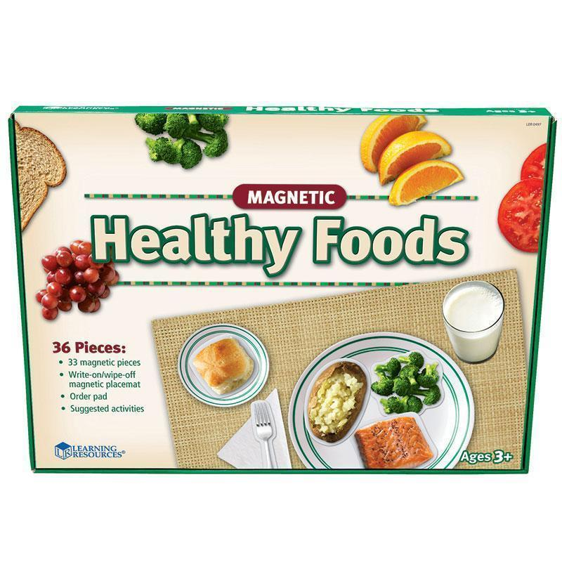 MAGNETIC HEALTHY FOODS 34 PCS-Learning Materials-JadeMoghul Inc.