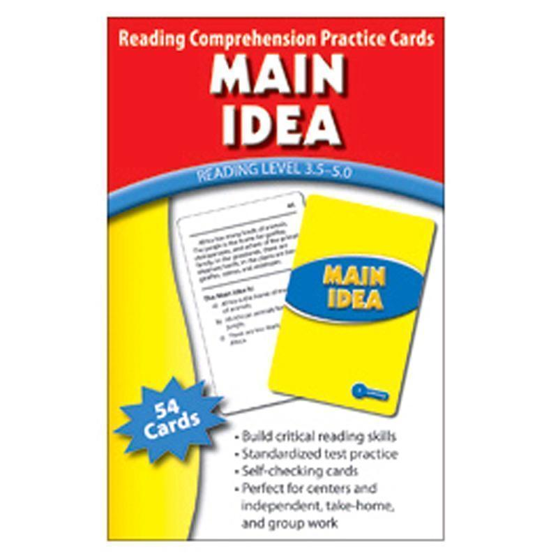 MAIN IDEA PRACTICE CARDS READING-Learning Materials-JadeMoghul Inc.