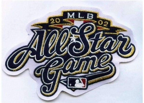 Major League Baseball-2002 MLB Baseball All-star Game Jersey Sleeve Patch In Milwaukee Brewers (White Version)-MLB-JadeMoghul Inc.